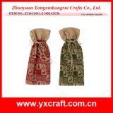 Christmas Decoration (ZY16Y143-1-2 34X14.5CM) Christmas Draw String Wine Bag