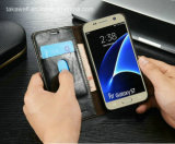 2016 Best Selling Flip PU Leather Case for Samsung Galaxy S7 Cell Phone Cover Case