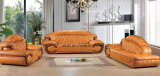 Modern Sofa Furniture, Wooden Genuine Leather Sofa (UL-NSC081)