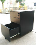 Assemble Structure 3 Drawer Steel Storage Cupboard Mobile Cabinet