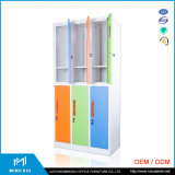 Luoyang Mingxiu Colorful Changing Room 6 Door Metal Clothes Cabinet