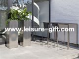 Fo-9022 Tall Indoor Stainless Steel Plant Pot for Decoration