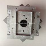 Raw Zinc Alloy Casting Wall Backplate for Medical Gas Processing Equipment