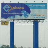 Outdoor Unipole Advertising Triangular Billboard Construction (F3V-131)