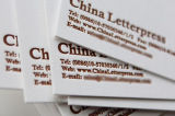 600g Gamond Cotton Paper with Coffee Color Letterpress Printing