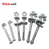 Factory Price Galvanized Curved Ground Pole Anchor Rod
