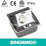 Sinoamigo Black Resin Plate Floor Sockets with Multi-Switch