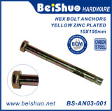 BS-An03-001 M10X150 Ningbo Factory Zinc Plating Hex Bolt Anchor