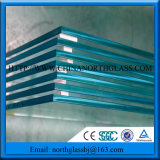 Shinny Polished Edge Tempered Toughened Glass Door