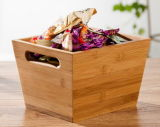 Bamboo Storage Box Candy Tray Fruit Holder