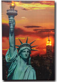 Wholesale 2016 Latest LED Light Oil Paintings on Canvas Statue of Liberty Landscape