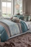 MID-Level Green Dimond Silk Panel Patchwork Embroidery Bedding Sets