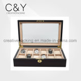 12 Slots Solid Wood Watch Cases for Men Storage Display Box