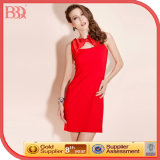 2014 Womens Summer Collection Red Fashion Dress (130047)