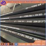 DIN En853 1sn 2sn Steel Wire Braided Hydraulic Rubber Hose