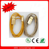 Champagne USB Data Cable for iPhone Lightning Connector (NM-007)