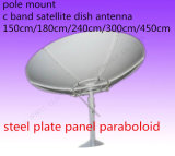 4 6 8 10 12 14 16 18 FT Feet 3 2.4 1.8 1.5mc Band Satellite Steel Iron Fiber Solid Plate TV Digital HD Parabolic Paraboloid Outdoor Dish Antenna