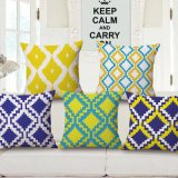 Thick-Weight Cotton Linen Fabric Printed Cushion Cover Without Stuffing (35C0152)