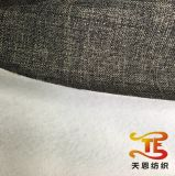 100% Polyester Faux Linen Fabric with Cotton Backside for Sofa