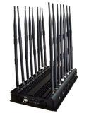 16 Antennas Adjustable Powerful 3G 4G Phone Jammer & WiFi UHF VHF GPS Lojack RF All Bands Signal Blocker of Global Version