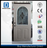 Classic PVC Coated Arc Top Glass Exterior Steel Door