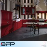 Custom Made High End Red Solid Wood Kitchen Cabinet