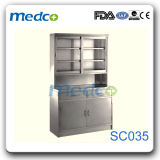 Medical Steel Wardrobe Furniture, Hospital Stainless Steel Storage Cabinet Cupboard