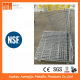 Zinc Surface Steel Storage Cages with Wheels, Lockable Cage  for Singapore