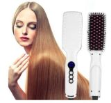 High LED Screen Hair Straightening Comb with Brush