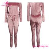 Sexy Pink Strapless Women Romper Jumpsuit