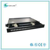 Sc Type Fiber Optic Patch Panel 24 Ports 19′′ 1u Drawer Style