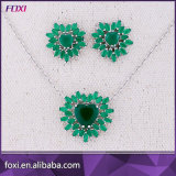 Brazil Fashion Women Heart Shaped Semi Joias Pave Jewelry Set