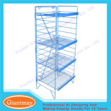 Folding Floor Standing Wire Grid Display Racks for Chips