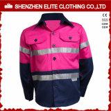 Pink Hi Vis Reflective Kids Safety Cotton Twill Workwear