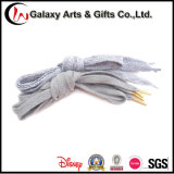 High Quality Polyester Flat Woven Shoelace with Metal Tip