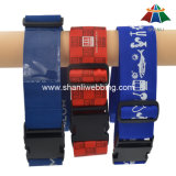 """High-Quality Polyester 2"""" Printed Luggage Strap with Plastic Buckle & Address label"""