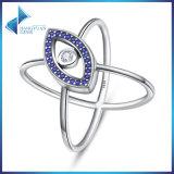 925 Sterling Silver for Women Jewelry Blue Eyes Clear Zircon Rings