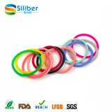 Rainbow Color Silicone Bracelet Woman Elastic Hair Band