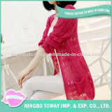 Summer Red White Ladies Sweater Long Cardigans for Women