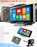 """Dual Lens Car Camera Recorder DVR with 120 Degree Wide Angle+Motion Detection+5"""" LCD+Full"""