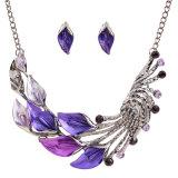 Alloy Peacock Choker Fashion Necklace Earring 2 PCS Set Jewelry