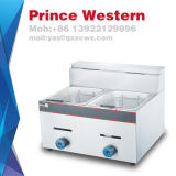 High Quality Industrial Stainless Steel Tabletop Gas Deep French Fries Fryer with Cheap Price