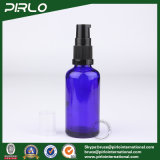 50ml Cobalt Glass Spray Bottles with Black Lotion Pump Sprayer