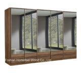 New 5 Doors Wooden Full Mirrored Wardrobe Dresser (WB15)