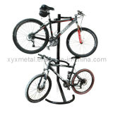 Bicycle Storage Stand for Two Bikes Gravity Bike Rack