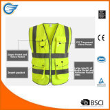 Yellow High Visibility Reflective Safety Vest Meets ANSI/Isea Standards