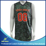 Custom Made Full Sublimation Premium  Basketball Single Ply Reversible Jersey