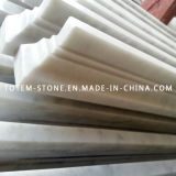 White Stone Tile Line Marble Floor Skirtings, Mouldings, Molding, Border