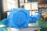 Metal Seal Double Eccentric Butterfly Valve with Gear Actuator
