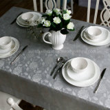 100%Polyester Solid Jacquard Tablecloth/Napkins